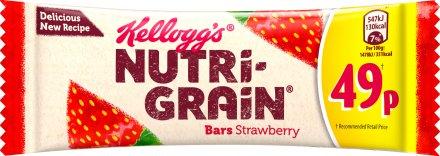 Kellogg's Nutrigrain Fruity Strawberry Breakfast Bar PM 49p