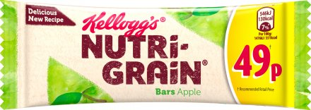Kellogg's Nutrigrain Fruity Apple Breakfast Bar PM 49p