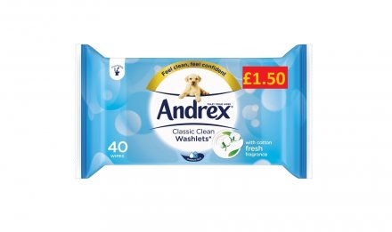 ANDREX WASHLETS CLASSIC CLEAN PM £1.50 40's