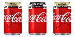 Coke Zero/ Coke zero Cherry/ Coke zero Vanilla cans PM 59p