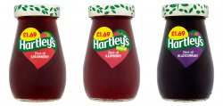 Hartley's Jam Strawberry/ Raspberry/ Blackcurrant PM £1.69